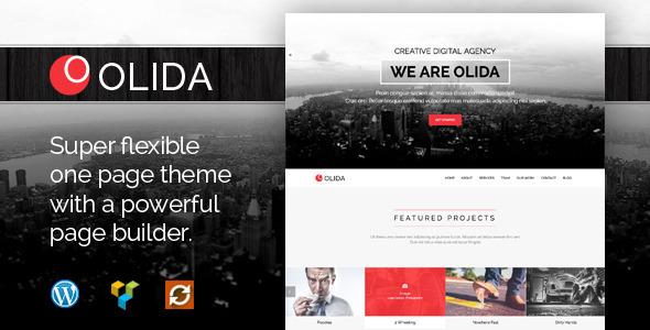 Olida - Creative Parallax One Page WP Theme - Creative WordPress