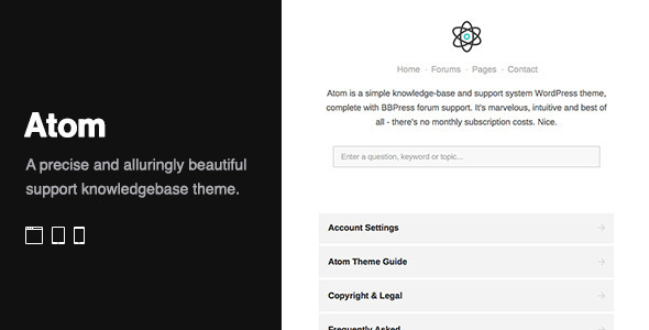 Atom - A WordPress Knowledge Base/Wiki/Forum Theme - Corporate WordPress