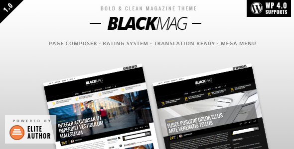 BLACKMAG - Bold & Clean Magazine Theme - News / Editorial Blog / Magazine
